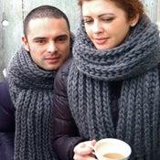 """Image of Echarpe mixte """"Les amants de Florence"""", laine-mèche"""