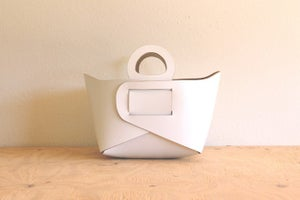 Image of White Leather Tote