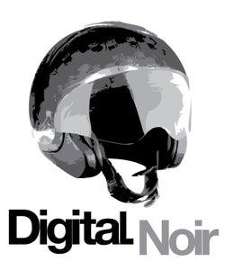 "Image of Digital Noir ""Casque Logo"" T-Shirt"