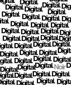 "Image of Digital Noir ""Repetition Logo"" T-Shirt"