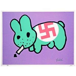 Image of Frank Kozik Ltd edition Smorkin Labbit - Gay Nazi