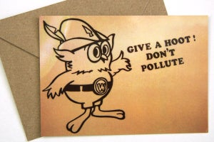 Image of Woodsy the Owl Postcard w/Envelope - Humboldt-Toiyabe National Forest
