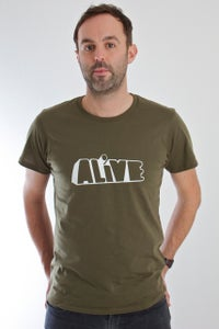 Image of Limited Edition ALiVE mens logo t.shirt - Olive Green