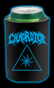 Image of CHAORDICA DRINK/BEER KOOZIE - BLUE LOGO WITH TRIANGLE SWIRL DESIGN