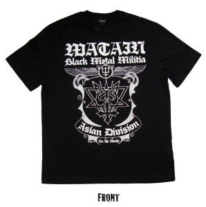 "Image of WATAIN ""Black Metal Militia Asian Division"" T-Shirt"