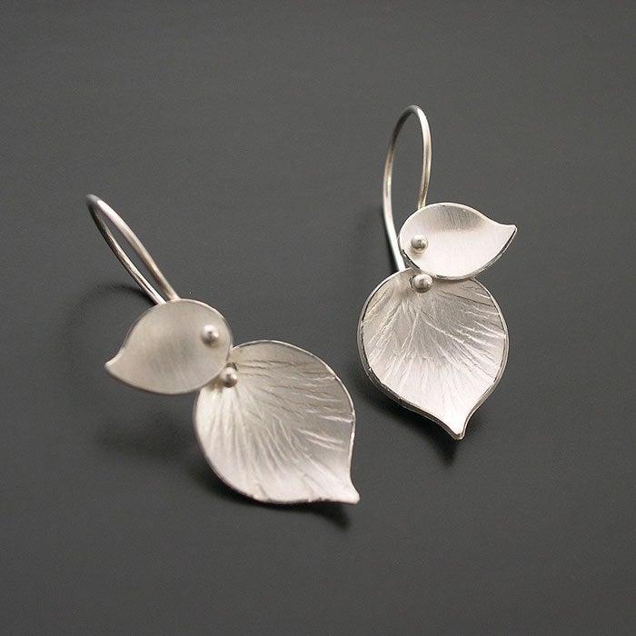 Double Leaf Earrings Ai Jewelry