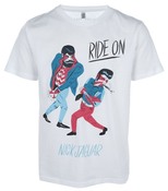 Image of NICK JAGUAR 'RIDE ON' PRINT T-SHIRT FOR JAGUARSHOES COLLECTIVE