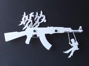 Image of Gun Rack Organizer - White
