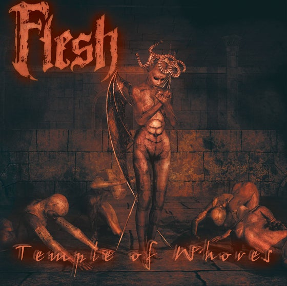 "Image of FLESH ""Temple Of Whores"" CD"