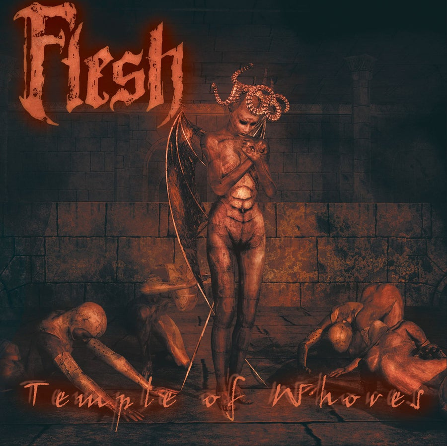 """Image of FLESH """"Temple Of Whores"""" CD"""