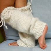 Image of Jambières en baby alpaga, couleur blanc cassé