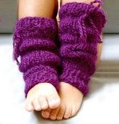 Image of Jambières en baby alpaga, couleur violet