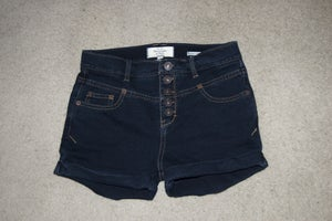 Image of Indigo High-Waisted Shorts
