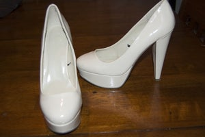 Image of Patent Leather Nude Pumps