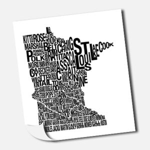 Image of MN County Map