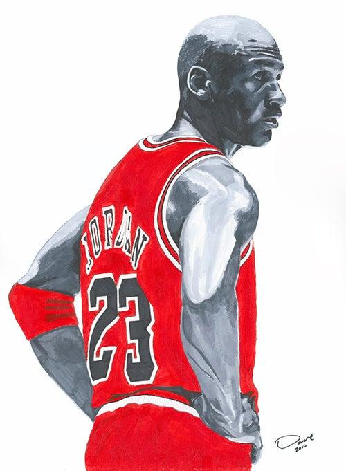 Worksbydave Michael Jordan Acrylic Prismacolor Marker