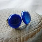 Image of cobalt studs - round