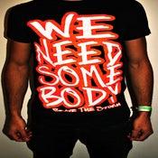 """Image of Navy Blue/Orange """"We Need Somebody"""" T-shirts"""