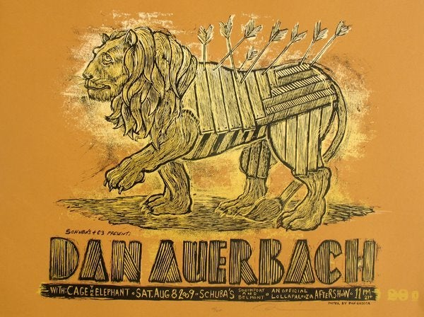 Image of Dan Auerbach Schubas poster