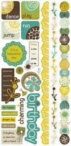 Image of Crate Paper Stickers Cardstock Title  Brook