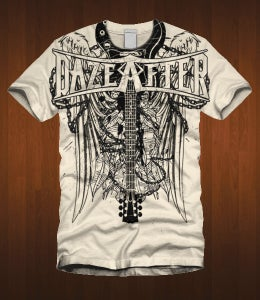 Image of Dazeafter Guitar Winged Shirt