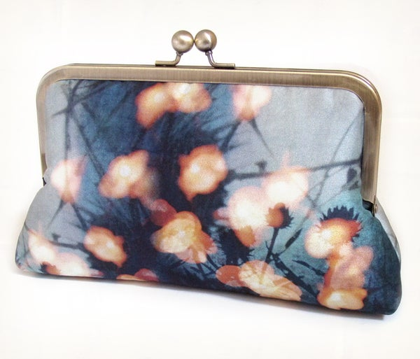 Forest Lights, A Red Ruby Rose original silk clutch purse - Red Ruby Rose