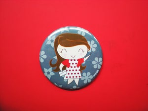 "Image of Pocket Mirror ""Italian Lady"""