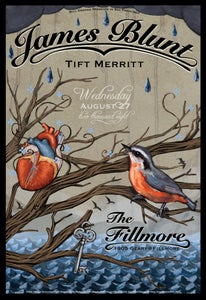Image of James Blunt - Fillmore, Concert Poster