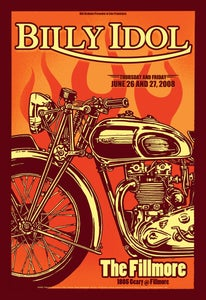 Image of Billy Idol - Fillmore, San Francisco, Concert Poster