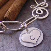 Image of sweet initial charm bracelet