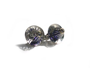 """Image of """"Golden Anemone"""" Stud Earrings Small"""