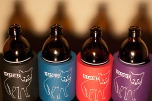 Image of Beer Cozie - Black, Teal, Purple, or Red