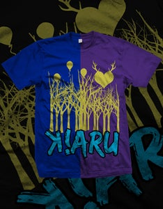 Image of K!ARU PartyWood Shirt (Blue or Purple)
