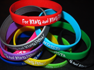 """Image of """"For King And Kingdom/MYNISTA"""" [10 Pack/color Silicone Wristbands]"""