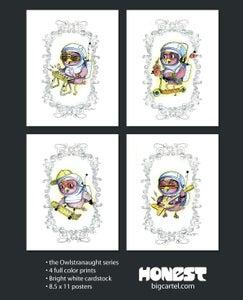 Image of Owlstranaught set of 4 Prints