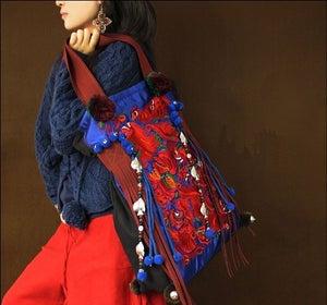 Image of Spring festival-Embroidery handbag,women's bag