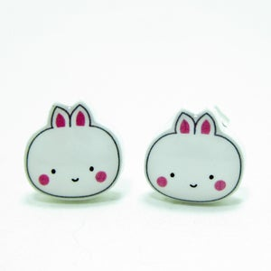 Image of Bunny Earrings - Sterling Silver Posts