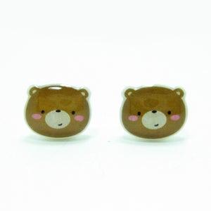 Image of Bear Earrings - Sterling Silver Posts