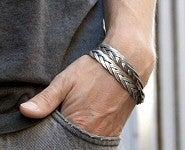 Image of <b>Theodora Gabrielli</b> _________<br>Bracelet 'Tresse'<br>Argenté / <i>Silver-plated</i><br>