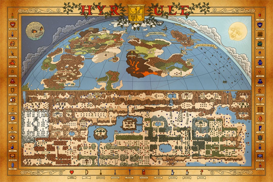 "Whaddaya in "" — NES Hyrule Map Overworld"