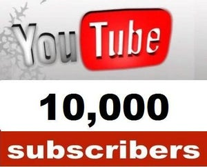 Image of 10,000 YouTube Subscribers