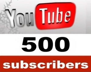 Image of 500 YouTube Subscribers