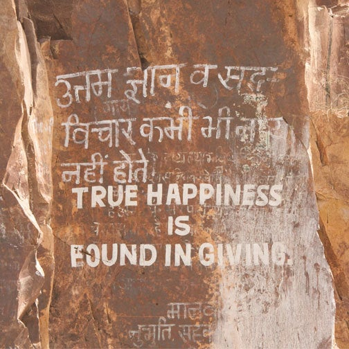 """Image of """"True Happiness is Found in Giving"""" by Lyndie Benson"""