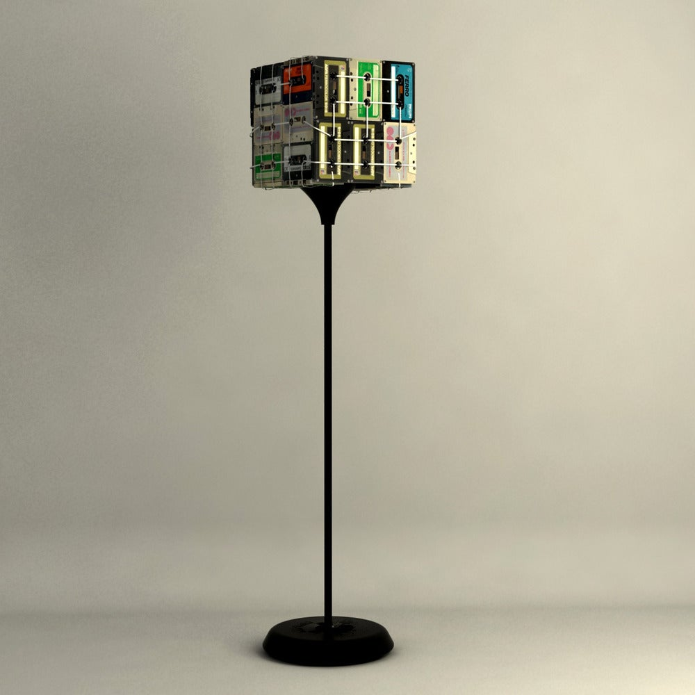 Image of Cassette tapes floor lamp