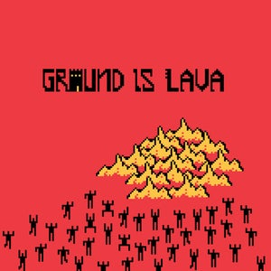 "Image of Groundislava's Groundislava on Red 12"" vinyl with gold 7"" vinyl"