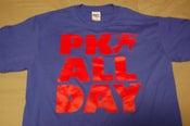 Image of PK ALL DAY t-shirt ~ Blue/Red