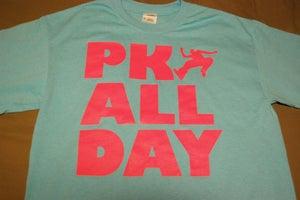 Image of PK ALL DAY t-shirt ~ LightBlue/Pink