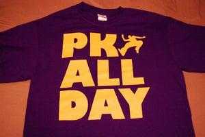 Image of PK ALL DAY t-shirt ~ Purple/Yellow