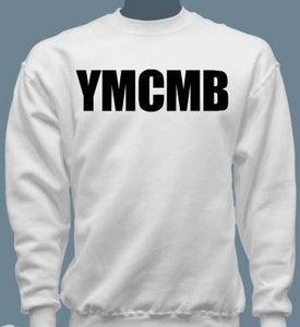Image of YMCMB Crewneck Sweater Black/White S-XL