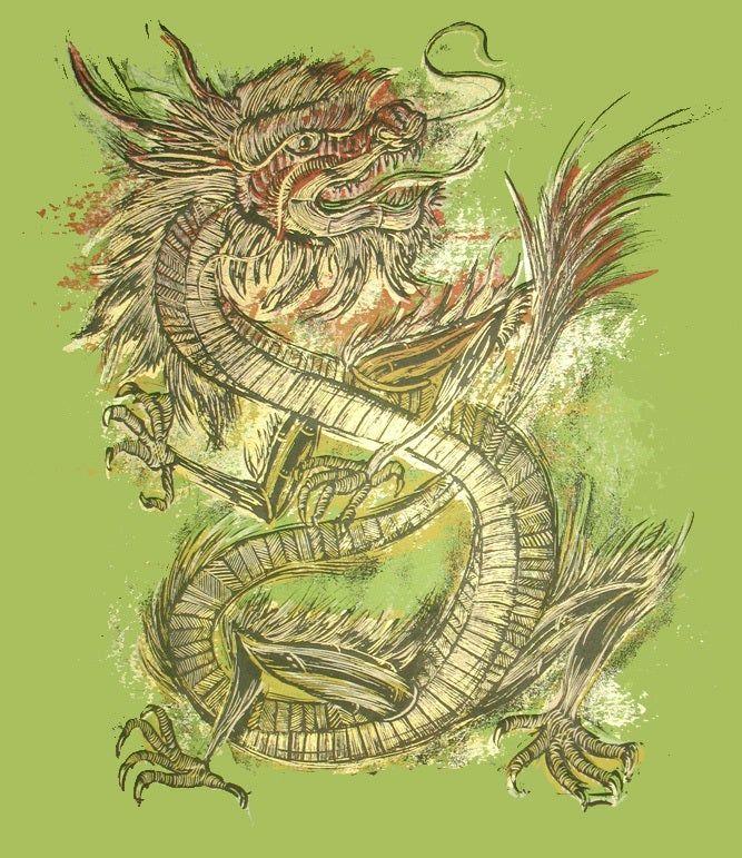 Image of Year of the Dragon art print